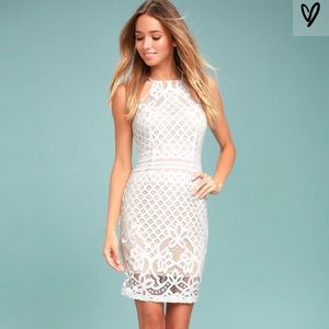 Lulus Steal a Kiss White Lace Dress